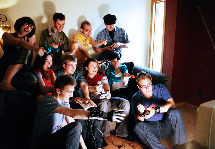 People-Playing-Video-Game