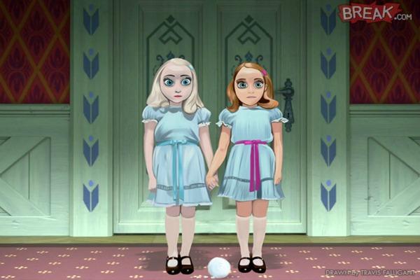 Elsa dan Anna sebagai The Shining Twins