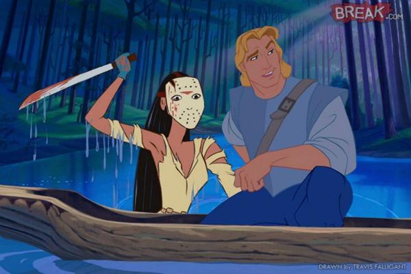 Pocahontas sebagai Jason Voorhees