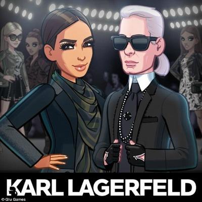 Karl Lagerfeld game Kardashian