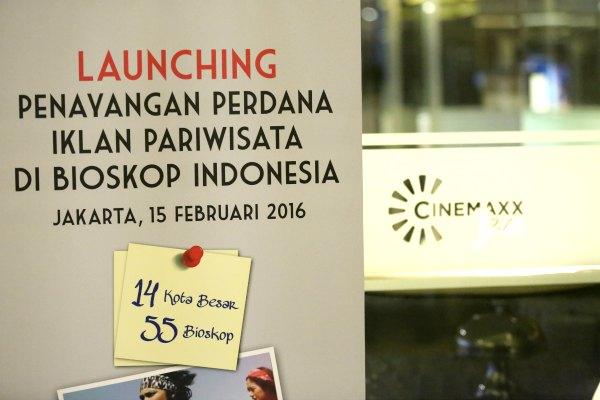 Launching Penayangan Perdana Iklan Pariwisata di Bioskop Indonesia