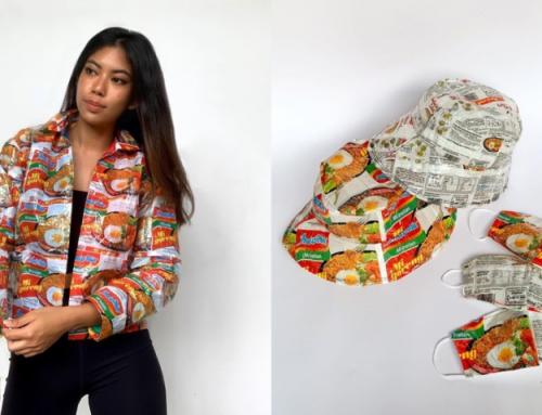 Kreatif! Dari Bungkus Indomie Hingga Saus Sachet Bisa Dibuat Pakaian