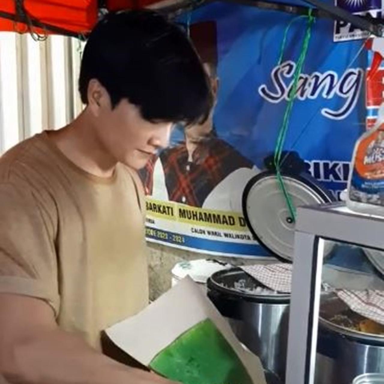 penjual nasi kuning mirip siwon super junior