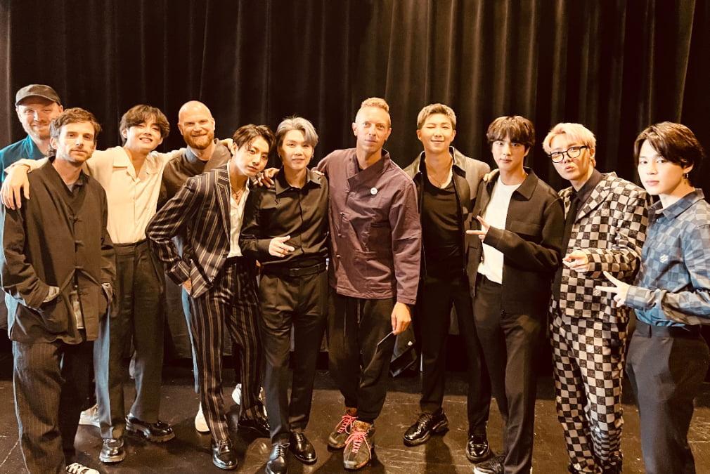 BTS dan Coldplay Ketemuan Di New York City